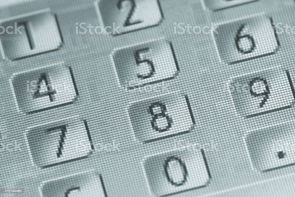 calculator numbers close-up royalty-free stock photo