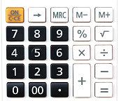 Calculator on white background