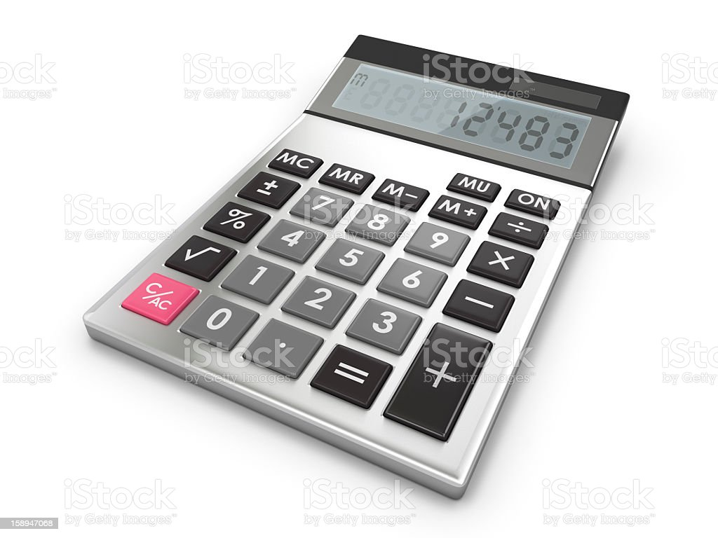 Calculator on White royalty-free stock photo