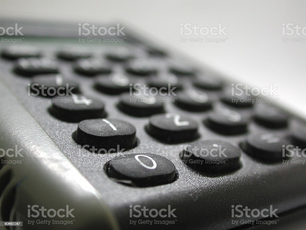 calculator (grey) royalty-free stock photo