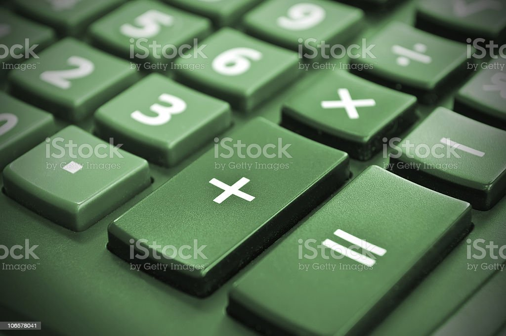 Calculator. Positive income. Plus. royalty-free stock photo