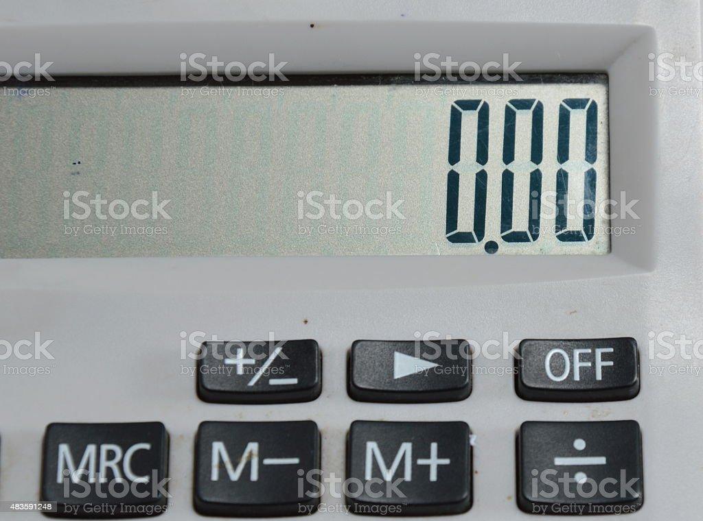 calculator set zero number stock photo