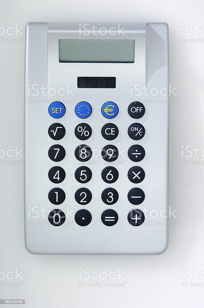 Calculator with EURO icons royalty-free stock photo