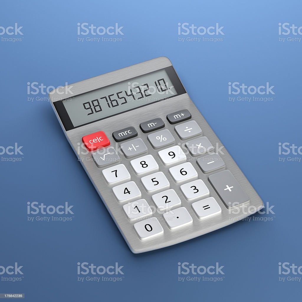 Calculator XL royalty-free stock photo