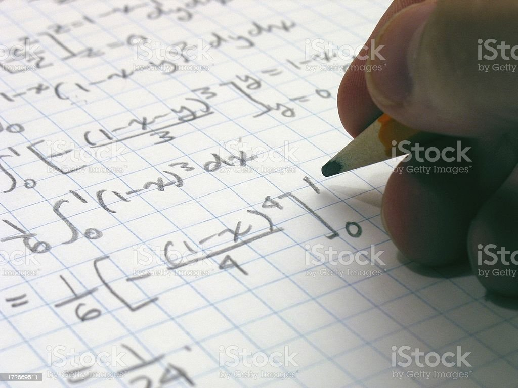 Calculus1 royalty-free stock photo
