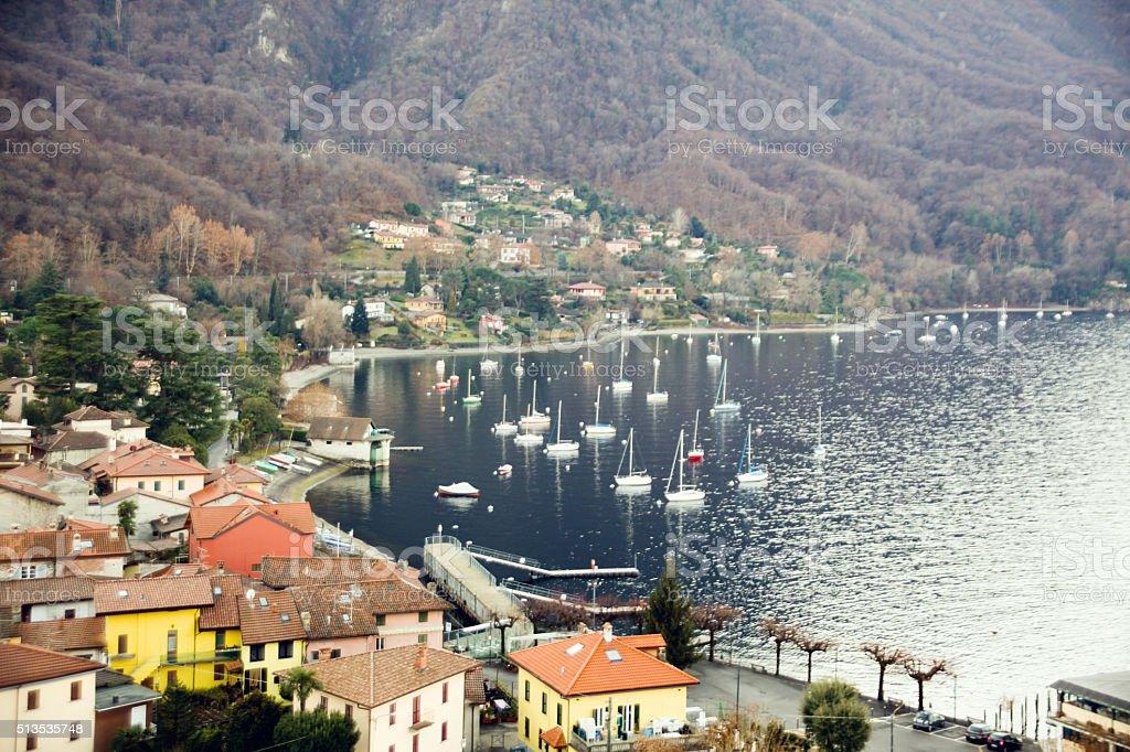 Calde, lake Maggiore, Italy stock photo