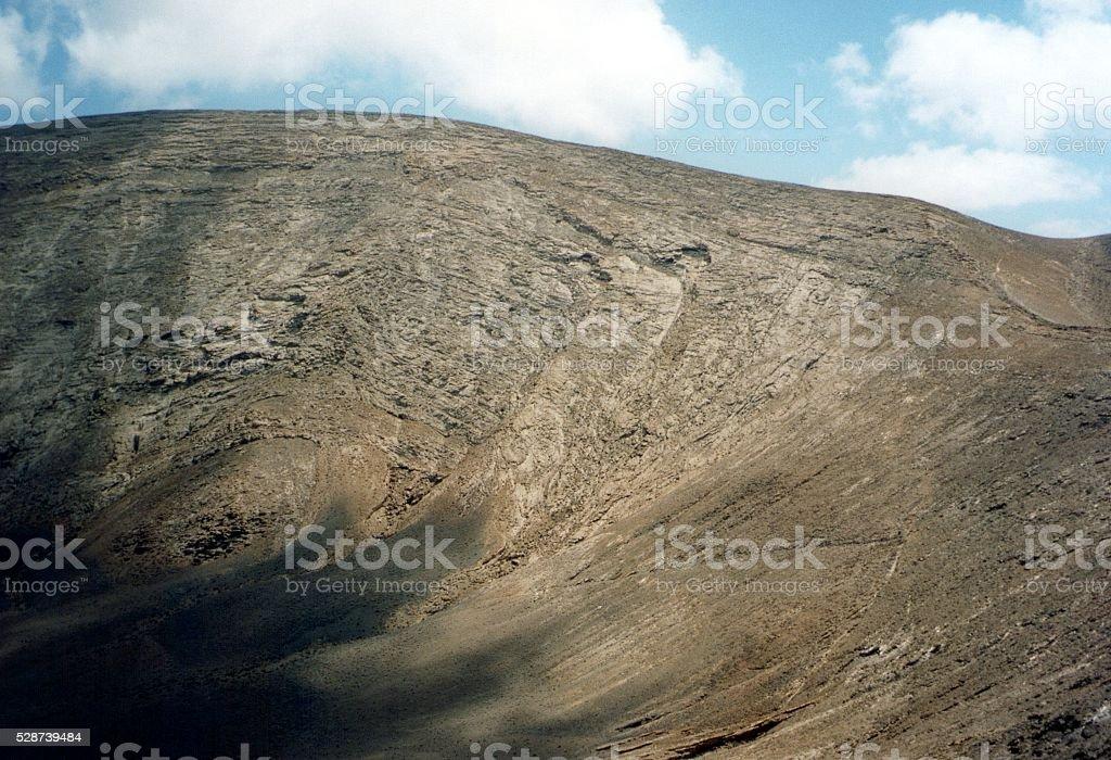 Caldera Blanca volcanic crater, Lanzarote, Canary islands stock photo