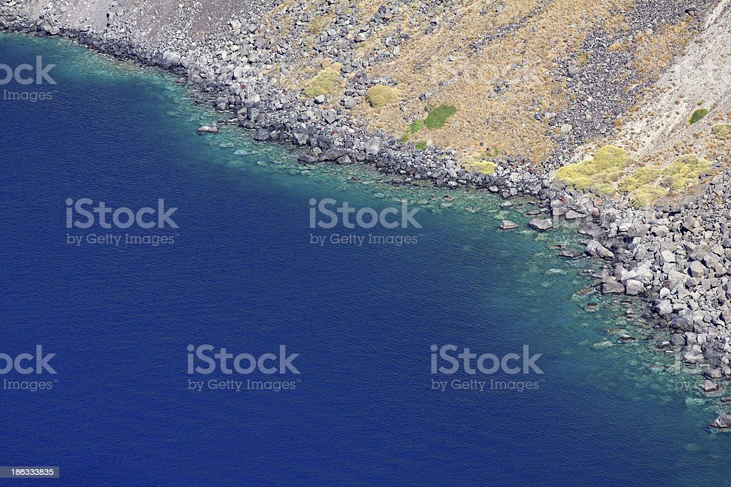 caldera cliff royalty-free stock photo