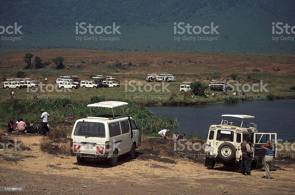 Caldera lunch, Ngorongoro 'Crater', Tanzania royalty-free stock photo
