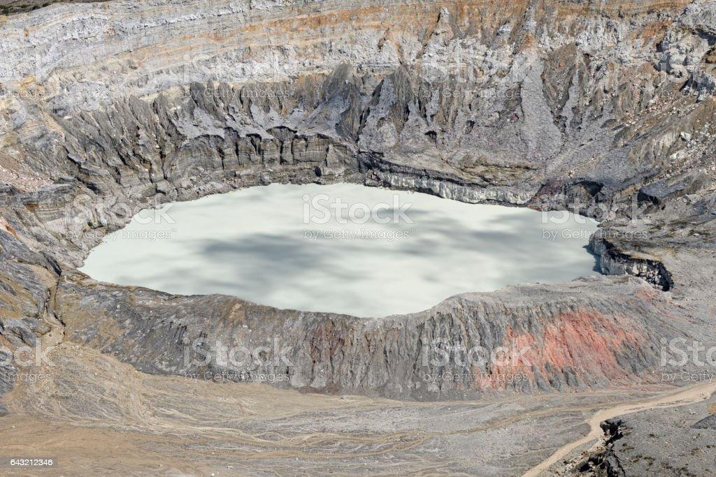 Caldera of the Poas Volcano stock photo