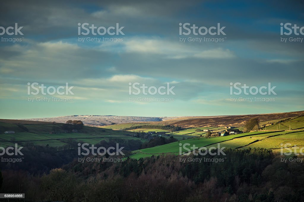 Calderdale, West Yorkshire in Winter stock photo