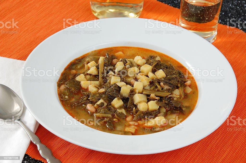 Caldo Gallego stock photo