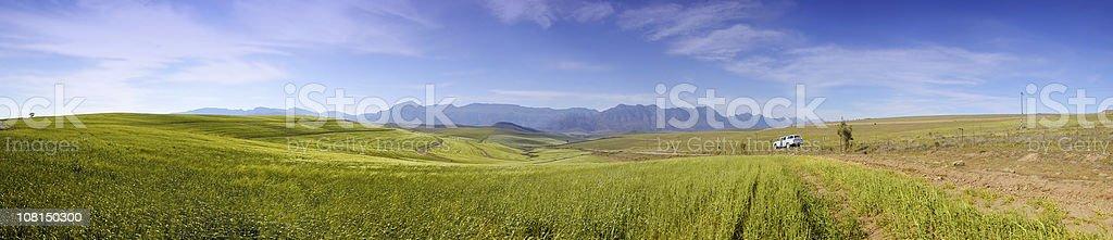 Caledon Farmlands Against Blue Sky stock photo