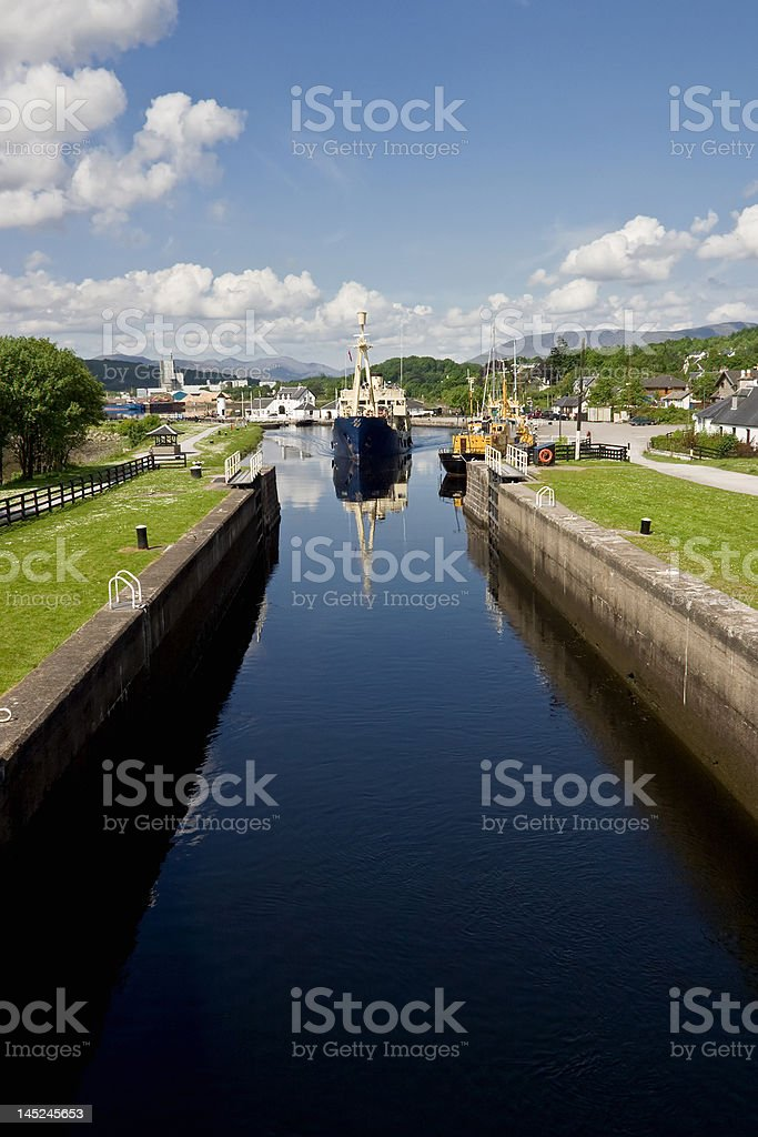Caledonian Canal royalty-free stock photo