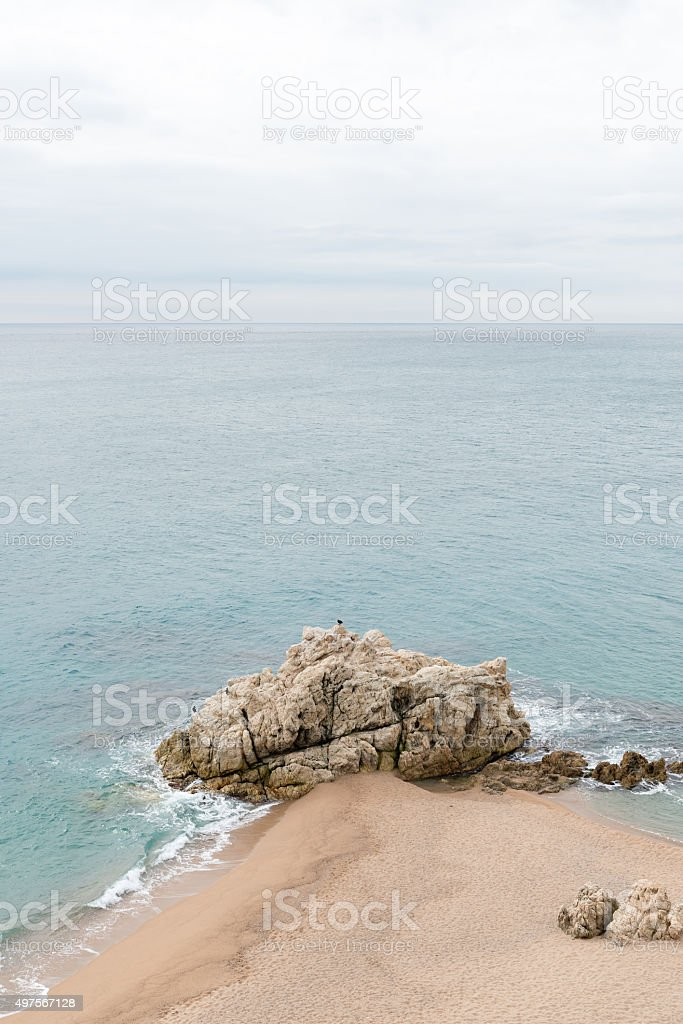 Calella - Roca Grossa Beach stock photo