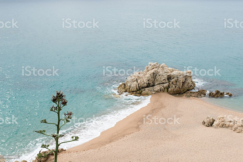 Calella - Roca Grossa Beach stock photo