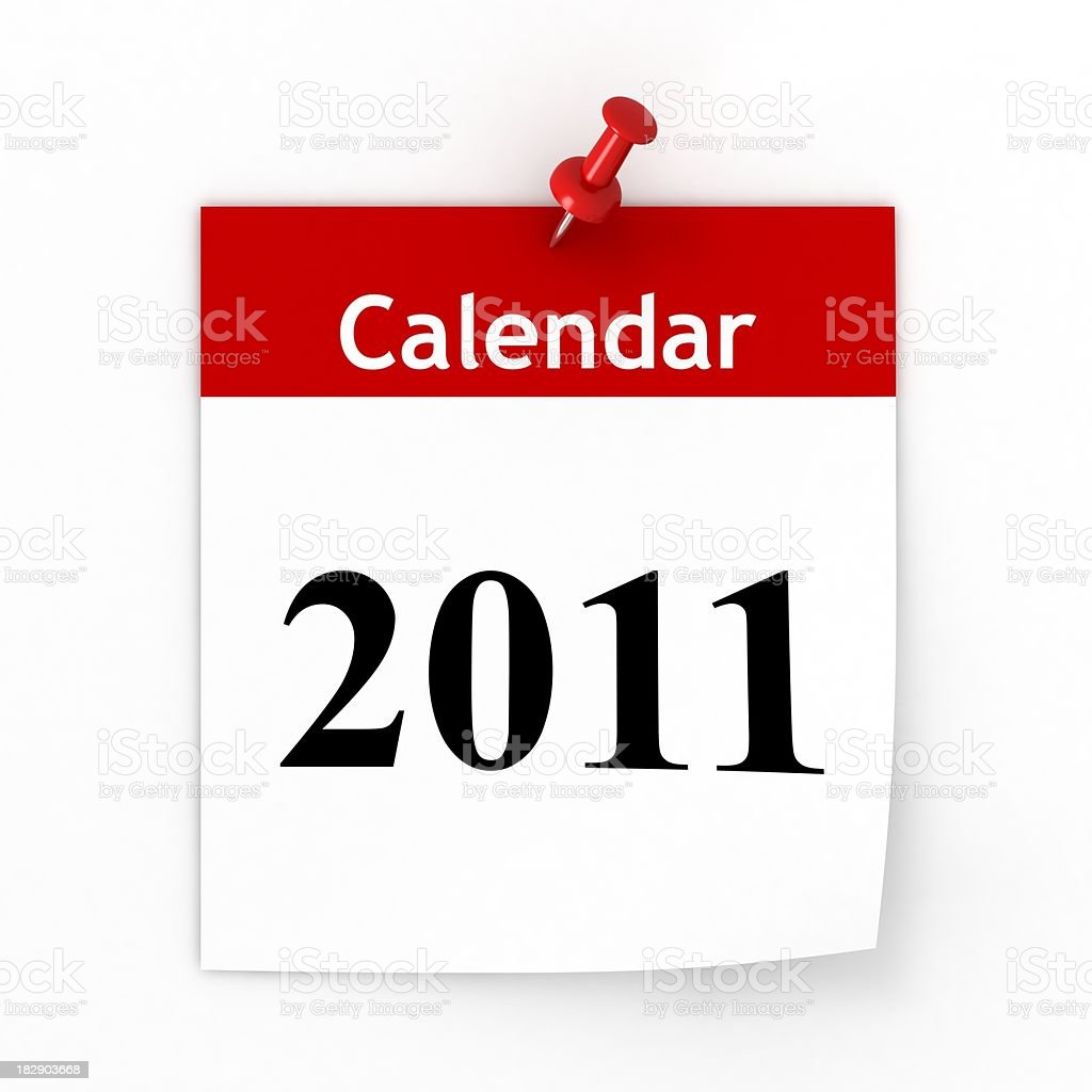 Calendar 2011 stock photo