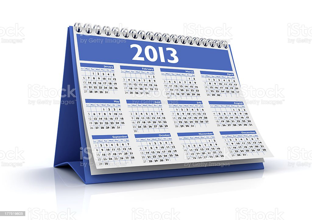 Calendar 2013 royalty-free stock photo