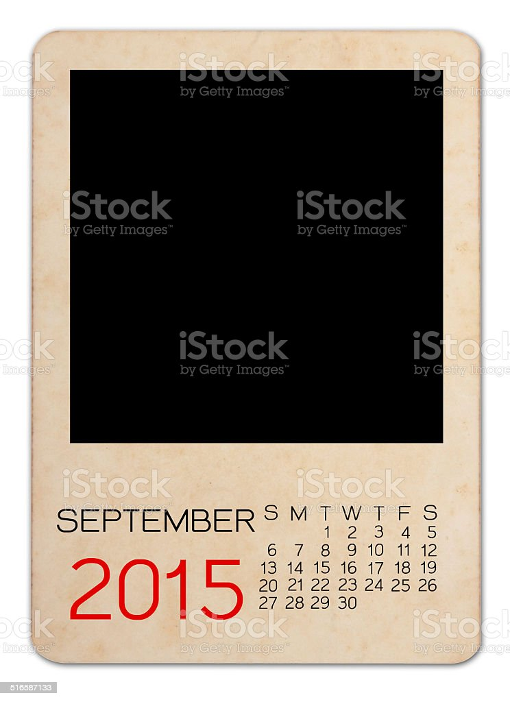 Calendar 2015 on the Empty old photo stock photo