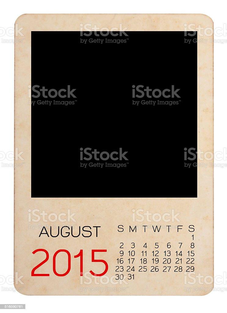 Calendar 2015 on the Empty old photo stock photo