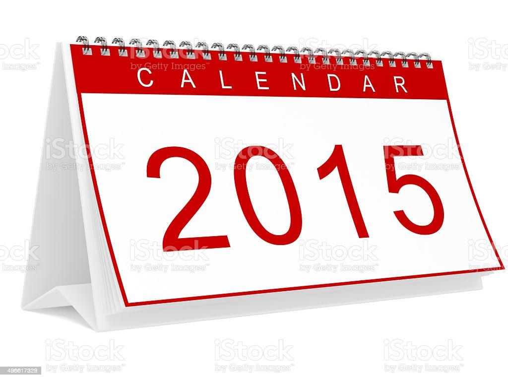 Calendar 2015 royalty-free stock photo