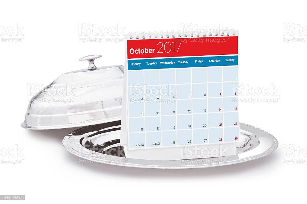 Calendar 2017 stock photo