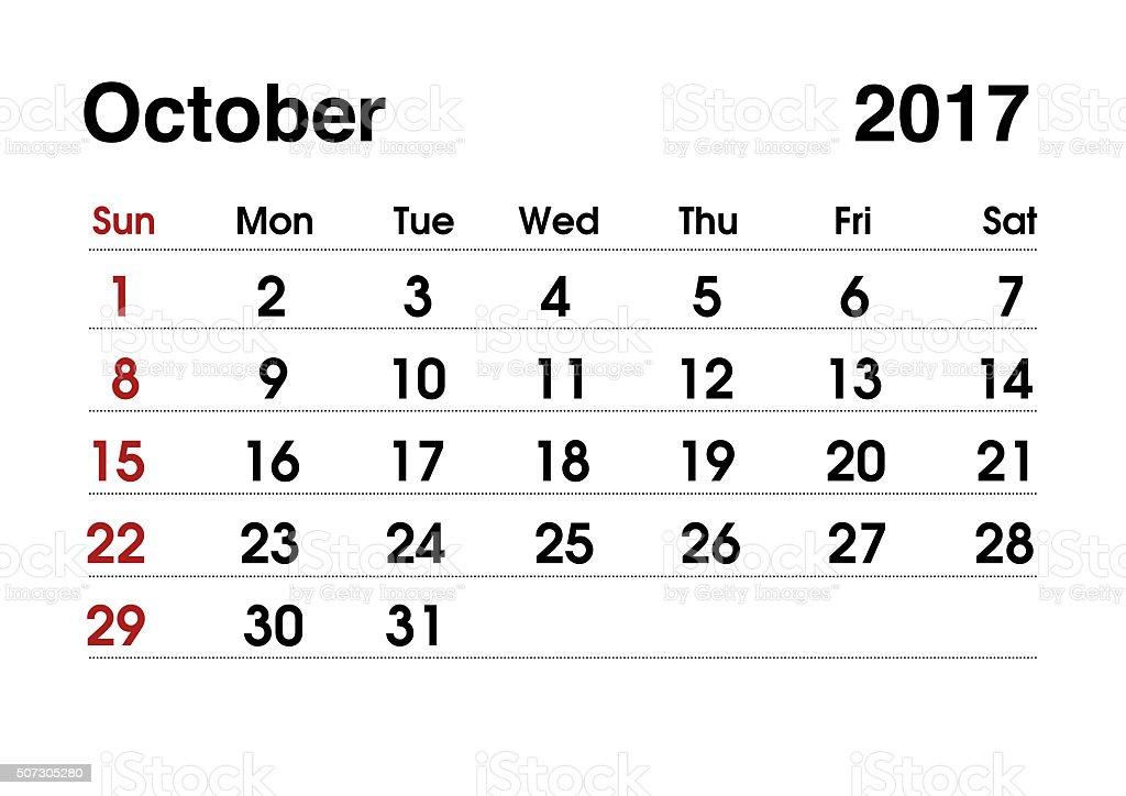 Kalendarz 2017 R Planowanie Kalendarz Dla Października