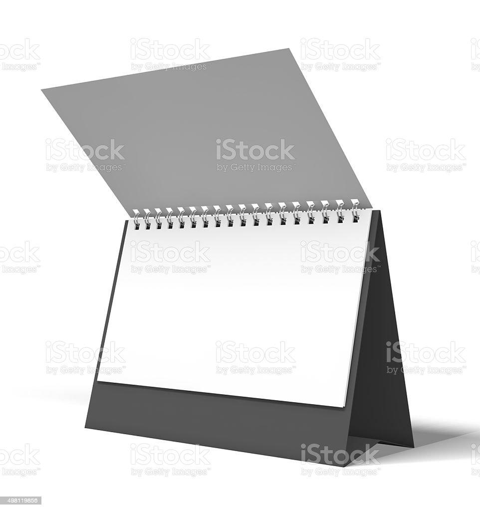 calendar 3D rendering stock photo