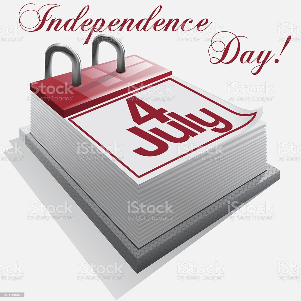 calendar 4 July, Independence Day . stock photo