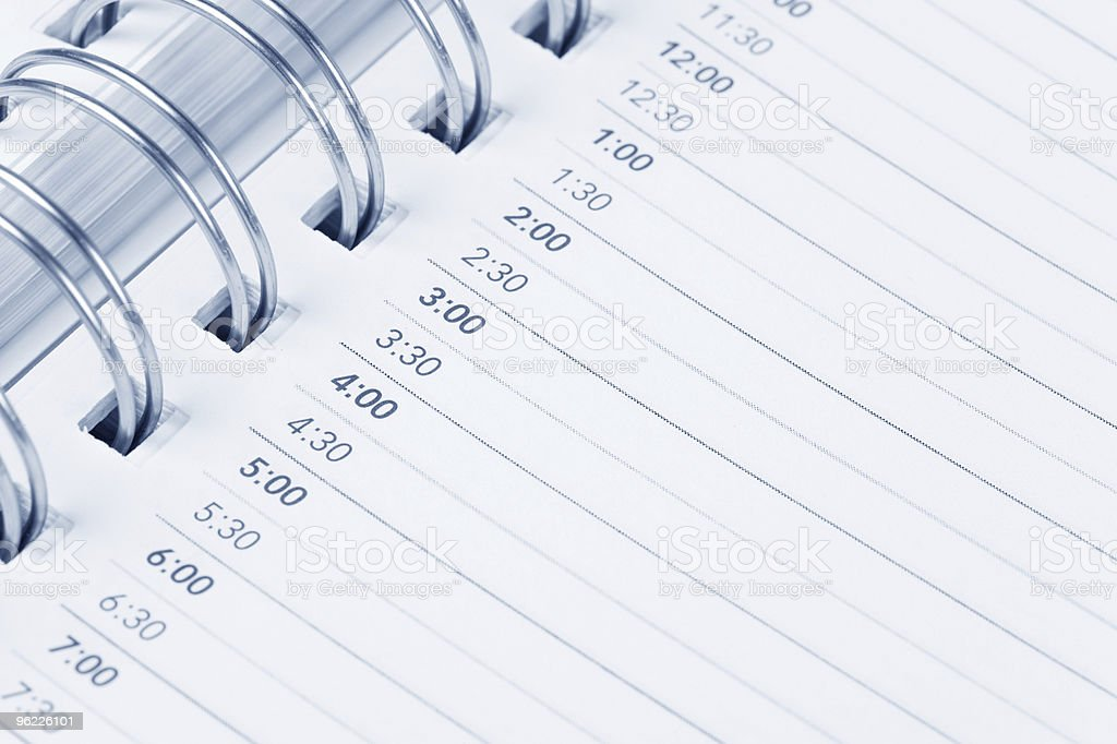 Calendar agenda royalty-free stock photo