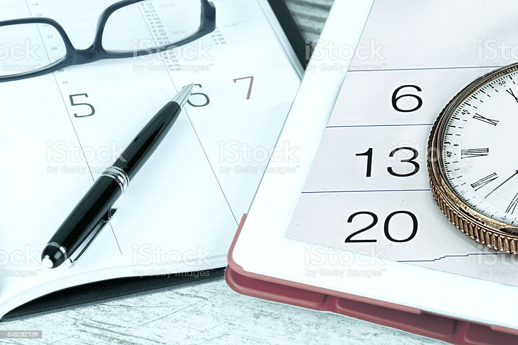 Calendar and planner stock photo