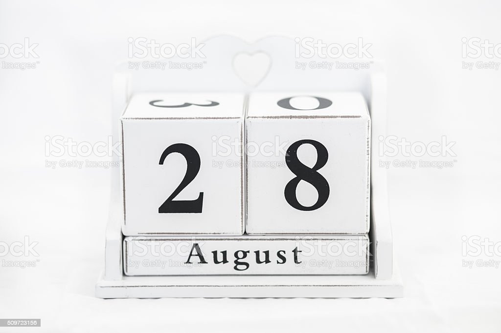 calendar august number stock photo