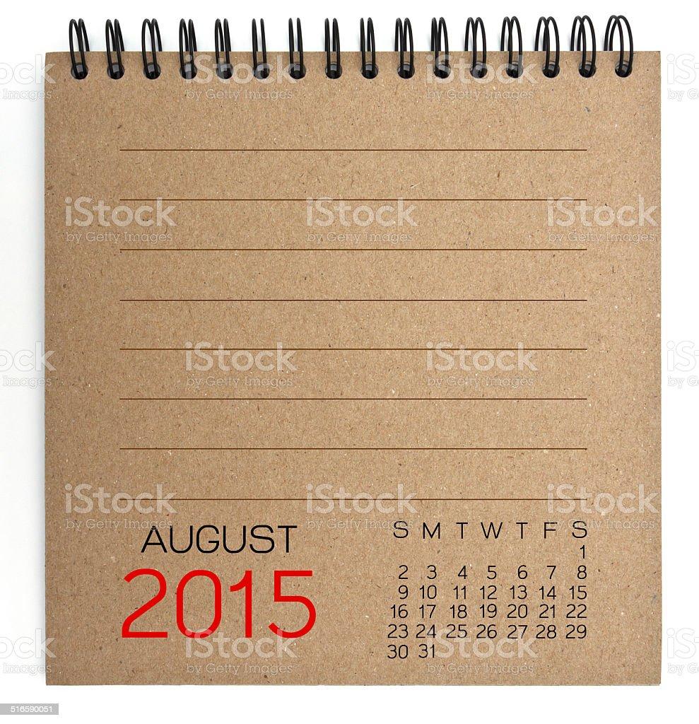 2015 Calendar brown Texture Paper stock photo