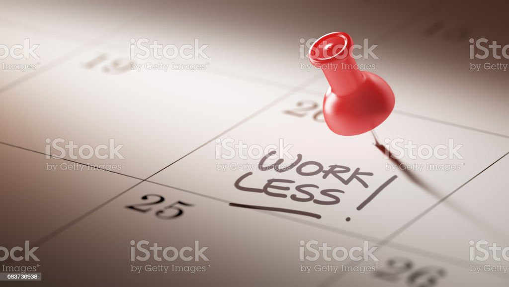 Calendar Concept with a red pin stock photo