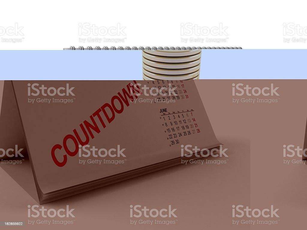 Calendar countdown royalty-free stock photo