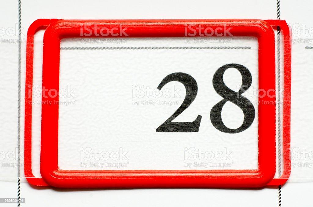 calendar date stock photo
