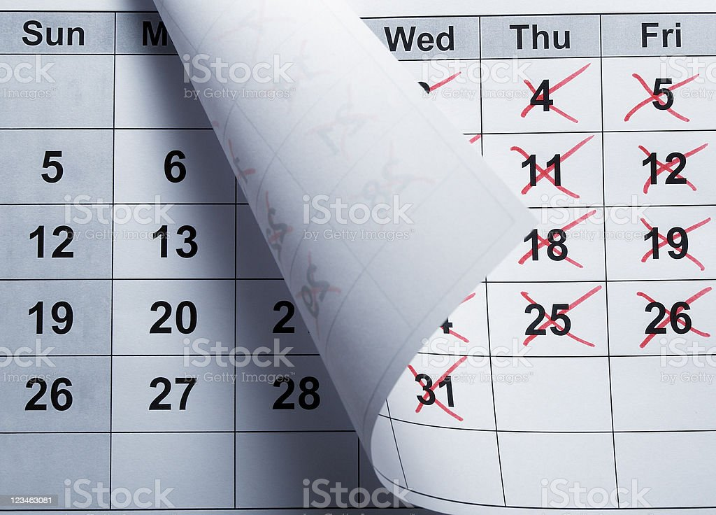 calendar date time stock photo