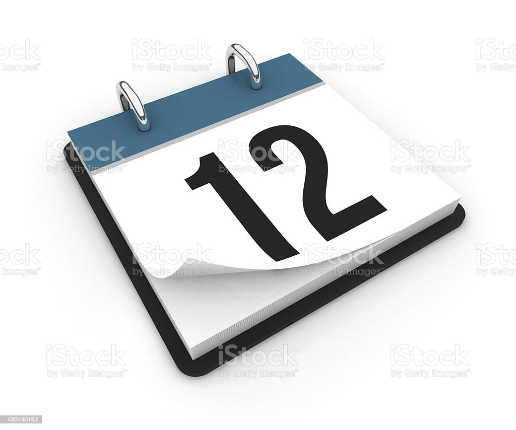 Calendar  - day 12 royalty-free stock photo