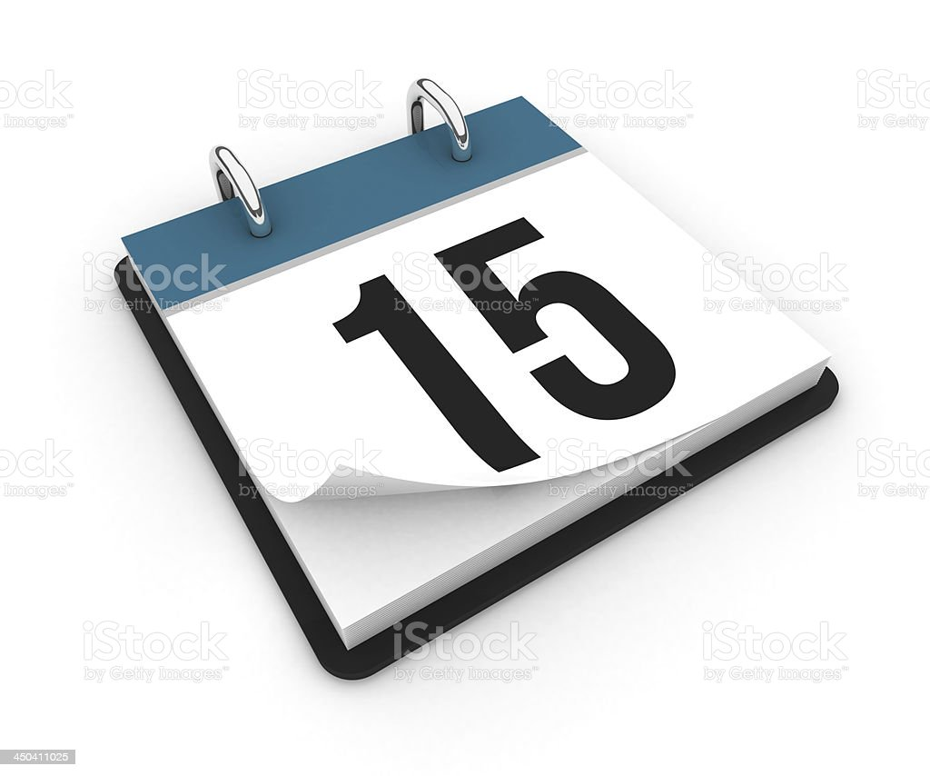 Calendar  - day 15 royalty-free stock photo