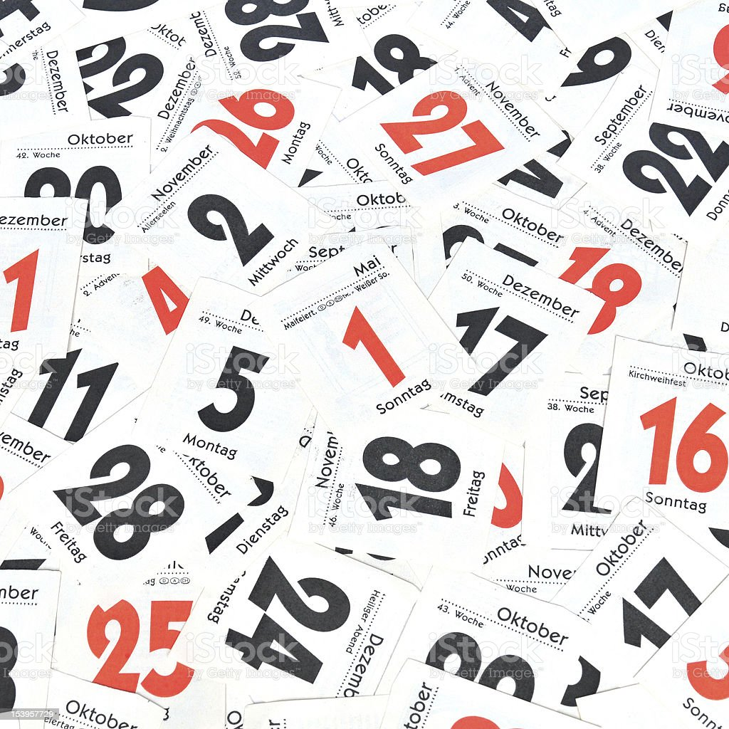 Calendar days royalty-free stock photo