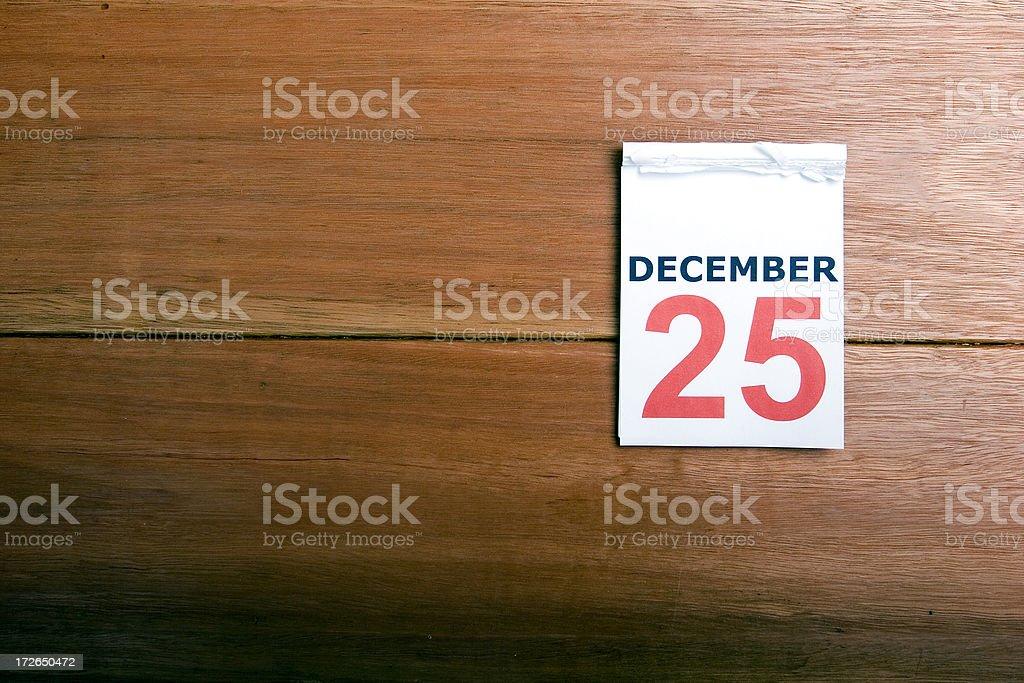Calendar Dec 25th stock photo