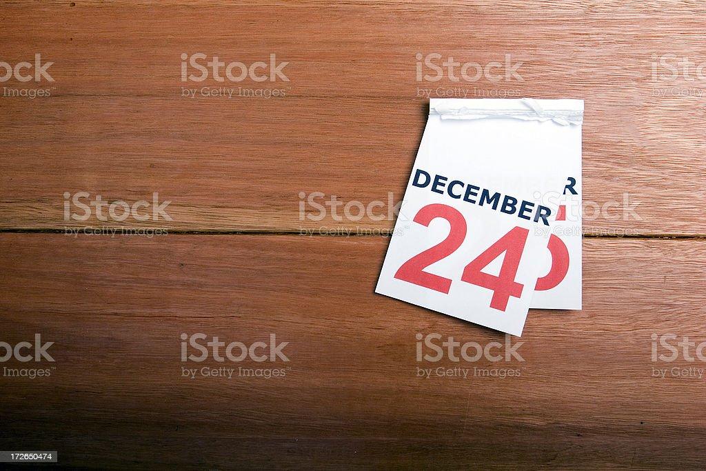 Calendar Dec24-25 royalty-free stock photo
