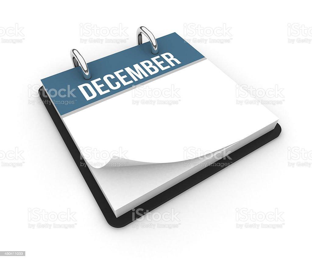 Calendar - December royalty-free stock photo