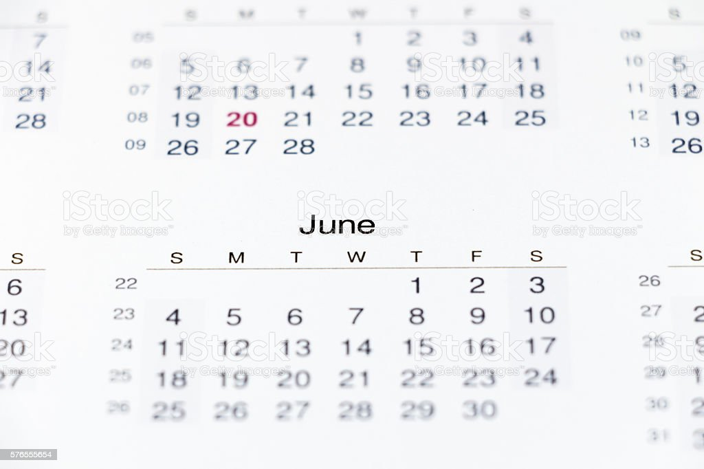 Calendar for 2017 with public holidays on white background stock photo