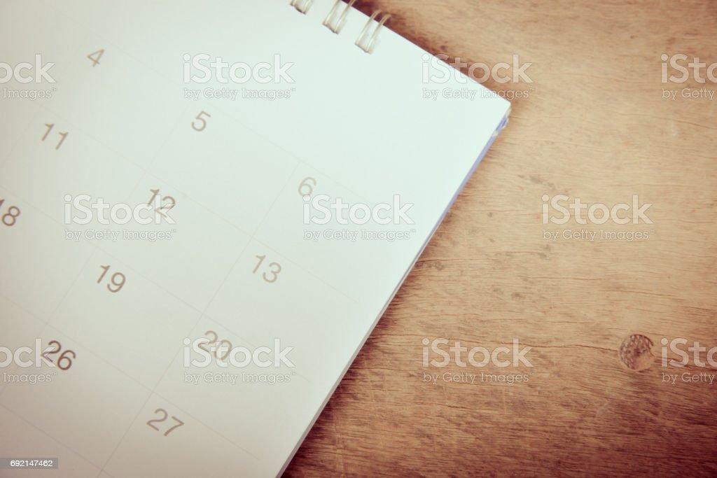Calendar in pastal tone. stock photo