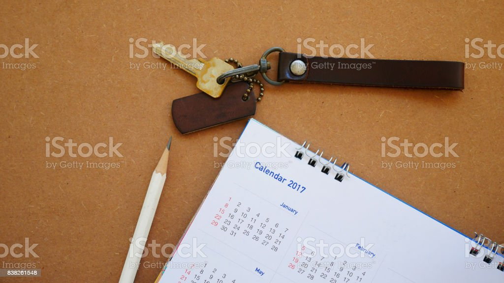 calendar in planning concept. stock photo