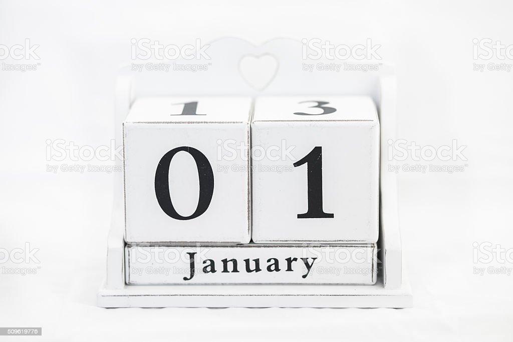 calendar january date stock photo