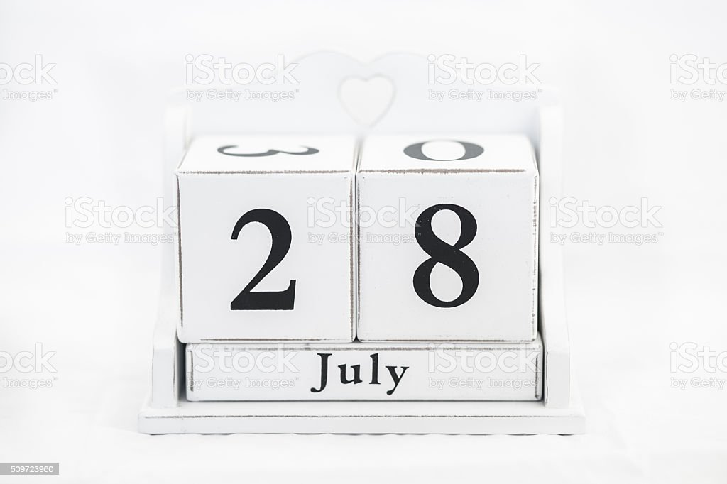 calendar july number stock photo