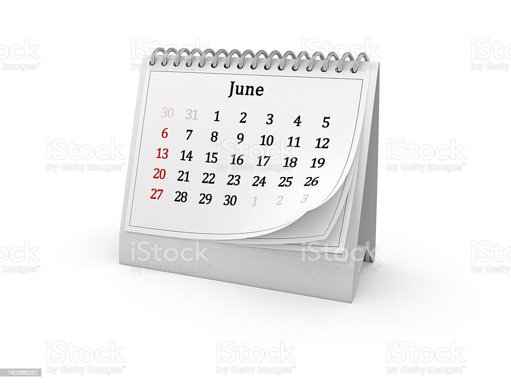 Calendar. June 2010. royalty-free stock photo