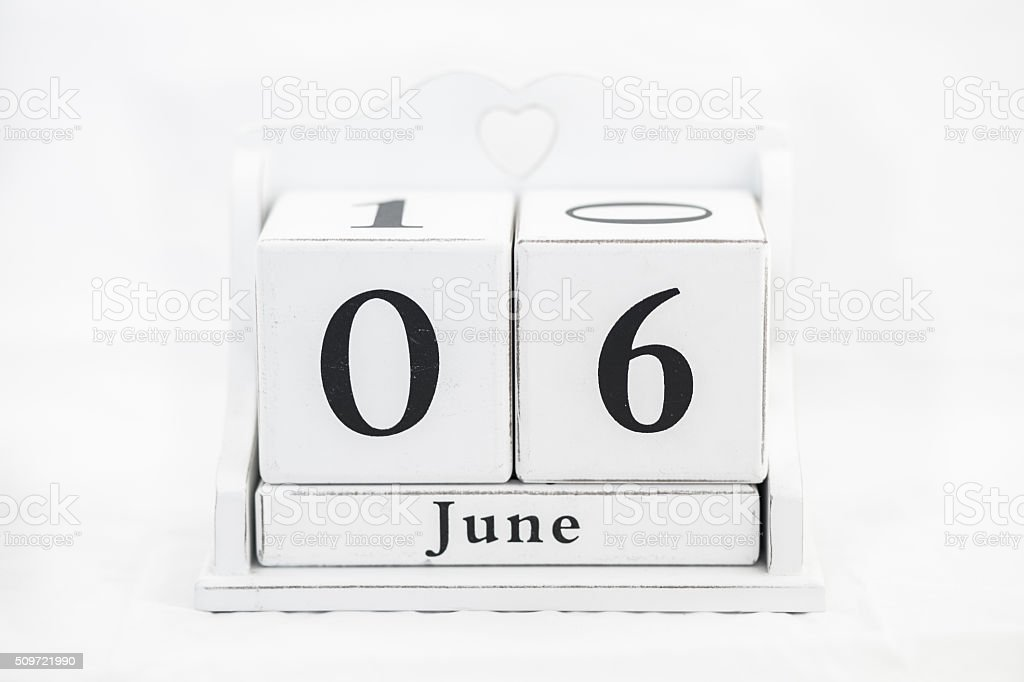 calendar june number stock photo